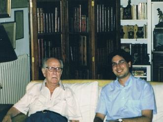 Amb Xavier Montsalvatge, Barcelona, 22.8.2001