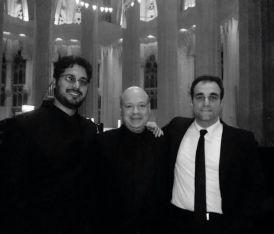Amb Albert Guinovart i Juan de la Rubia, Sagrada Família, 15.12.2013