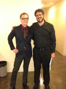 Amb Danny Elfman. Concert Música de pel.lícules de Tim Burton. Coral Càrmina, OBC, L'Auditori, 15.5.2016