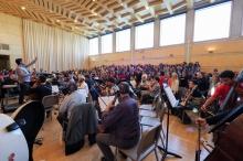 Assaig a l'Esmuc del Concert d'Homenatge al P. Ireneu Segarra, 18.11.2017 © A Bofill
