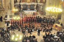Concert de Nadal amb el Cor Exaudio, Cor d'Homes d'Igualada i Orquestra Terres de Marca, Basílica de Santa Maria, Igualada, 20.12.2015